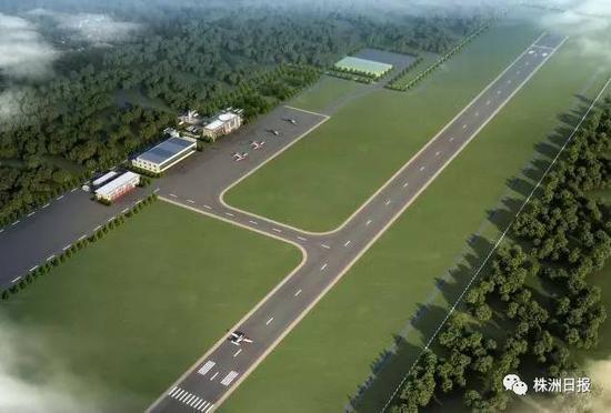该项目总规划用地639亩,建设跑道、机库、辅助用房等设施。