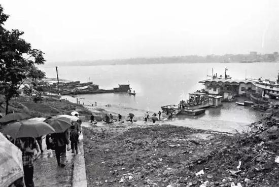 湘江边的码头旧照(陈瑛 摄)