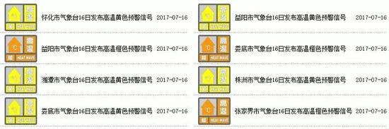 高温黄色预警信号含义:连续三天日最高气温将在35℃以上