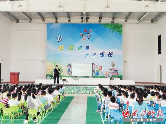 长沙县开展法治进校园活动。