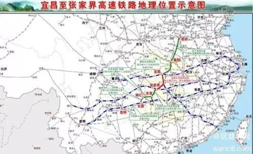 呼南通道与沿江通道在宜交汇示意图-6高速 4普速 6高铁站 124公里轨