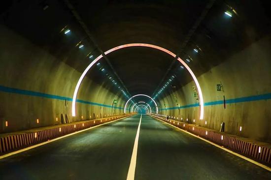 ▲隧道反光环