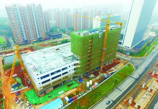 长沙市首条BRT 万家丽路快速公交首末站主体已完成