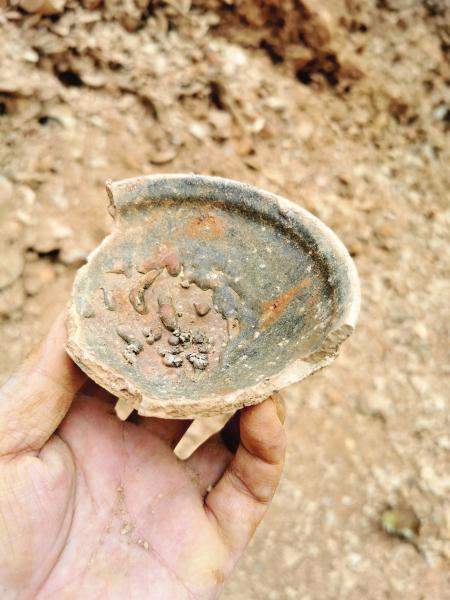 △近日,长沙望城区窑头冲宋窑 Y1 号龙窑窑址出土的瓷器。图 / 受访者提供