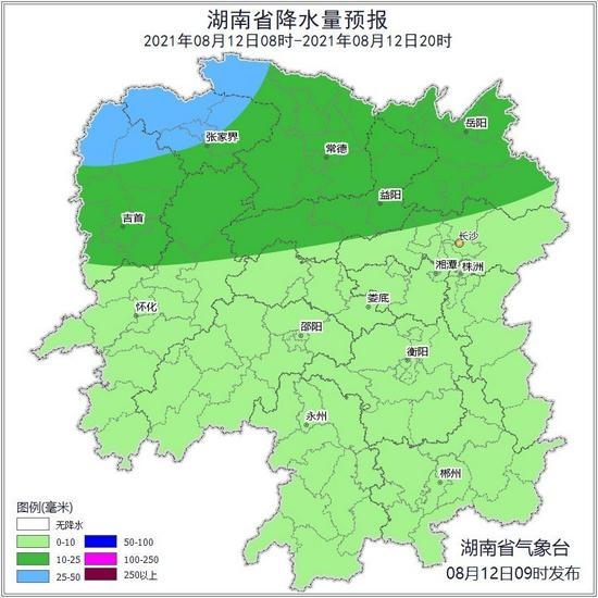未来三天湘中及以北局地仍有暴雨到大暴雨