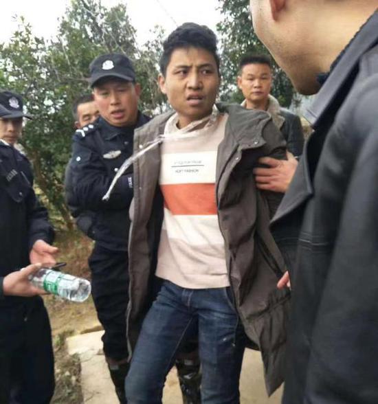 12月13日,嫌疑人落网。受访人供图