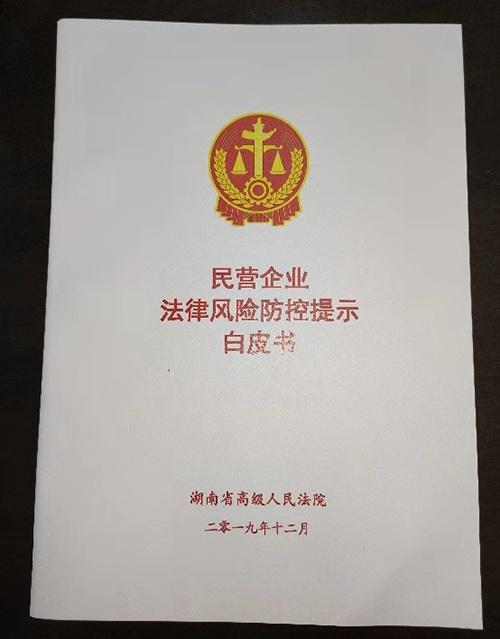 湖南高院制作的白皮书来源:邱杨雨生摄