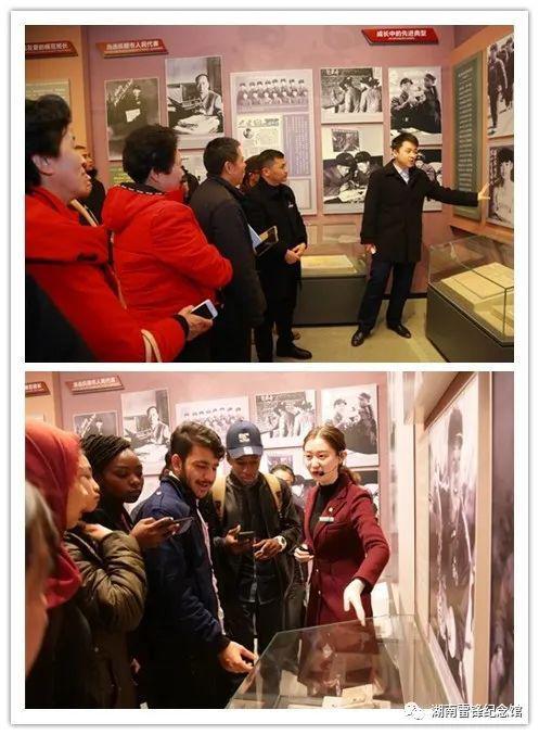 湖南雷锋纪念馆讲解员正在为游客讲解。