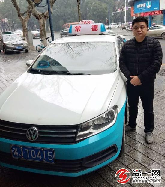 常德永隆出租车公司的士司机韦勇?#36864;?#30340;爱车。尚一网记者 曾兰 摄