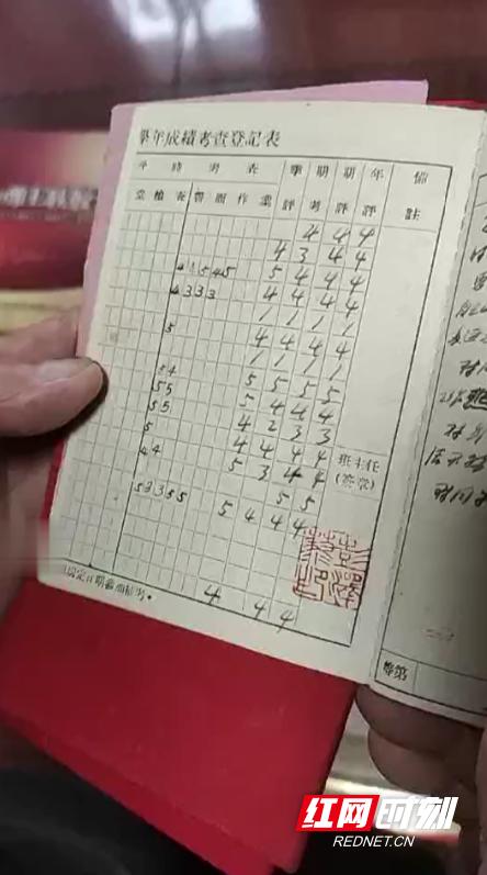 61年前的成绩单,满分为5分,汤爹爹大部分成绩在4分以上。