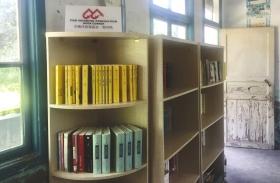 近日,湘西州泸溪县红岩村辛女溪小学,中南传媒·晨基金捐赠的图书。图/记者粟霜晴