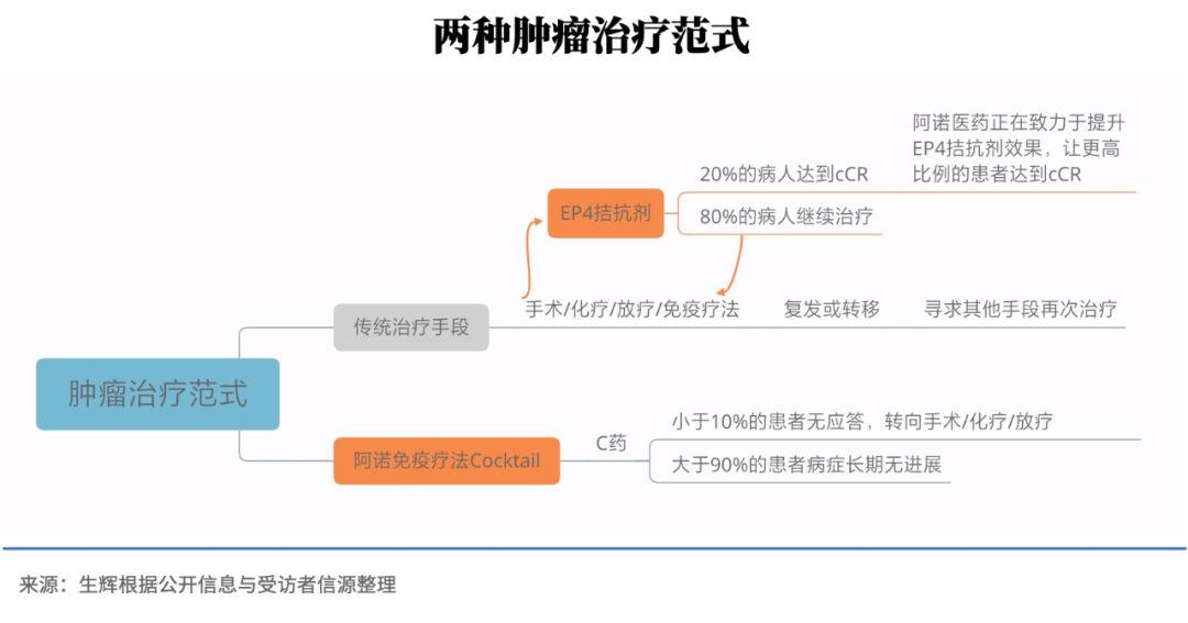图丨两种肿瘤治疗范式(来源:生辉根据公开信息与受访者信源整理)