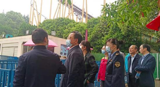 """湖南省市场监管局赴长沙世界之窗检查""""五一""""市场安全工作"""