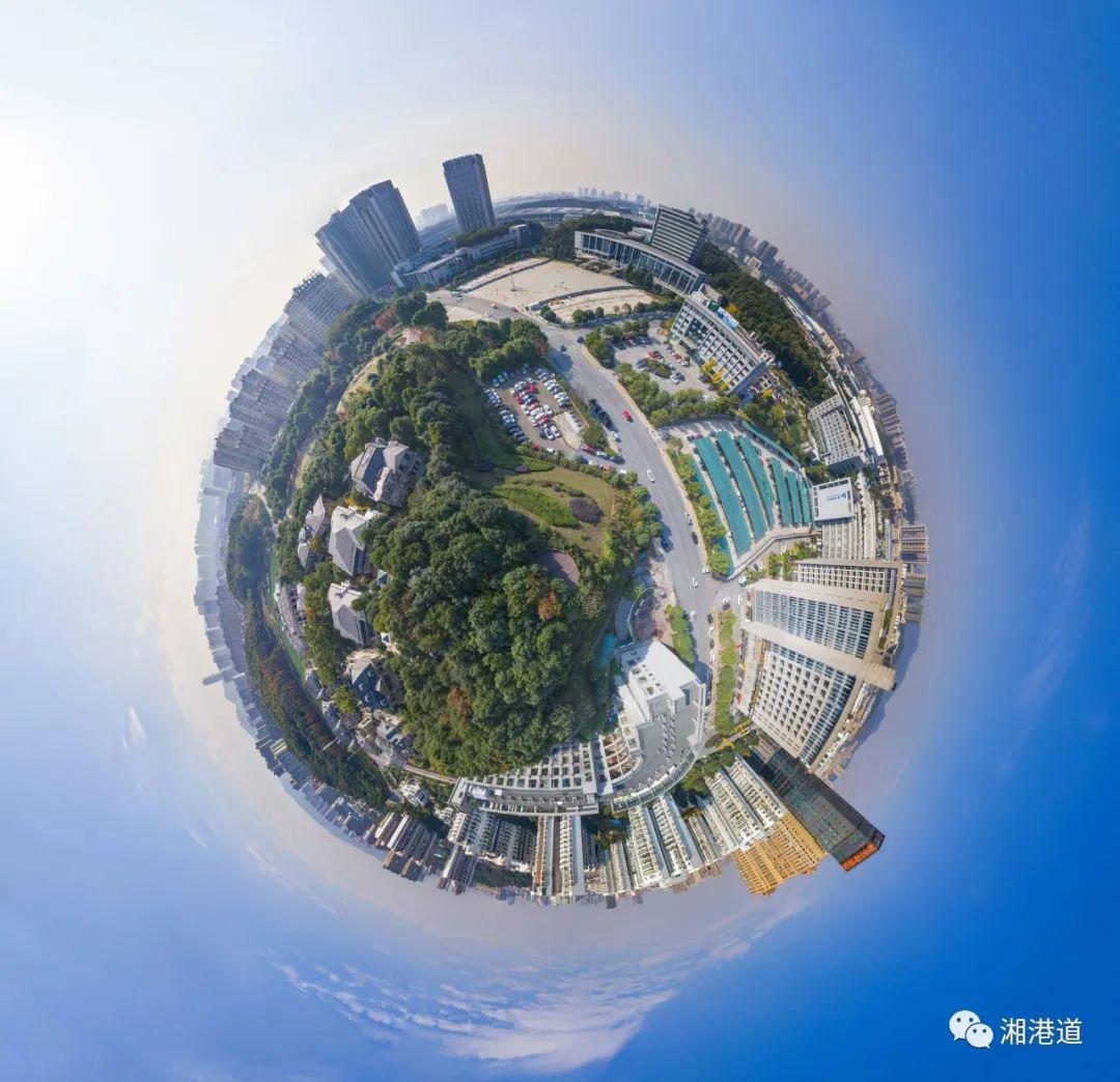 长沙高新区全景图。