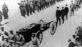 侵华日军总司令白川灵车归国