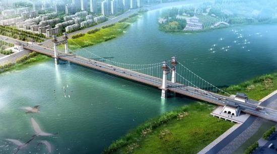 益阳青龙洲大桥建设推进 有望3年内通车