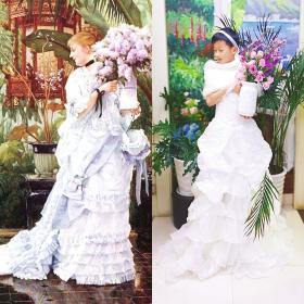 北师大株洲附校的陈咏礼同时Cos了《丁香花束》《抱银鼠的女子》。