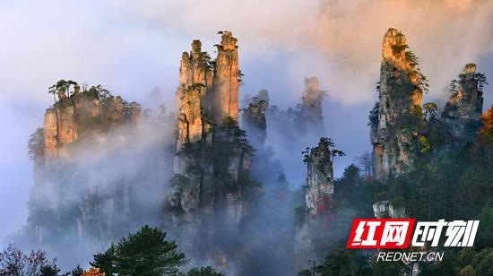 武陵源核心景区秋季景色。