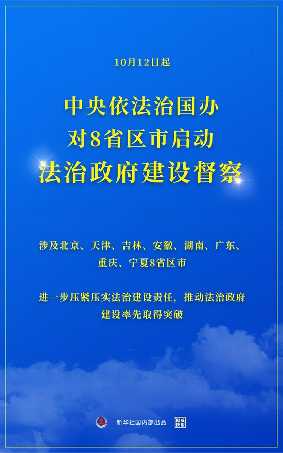 中央依法治国办对湖南等8省区市启动督察