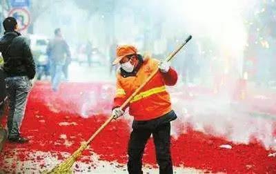 燃放烟花爆竹造成环境污染