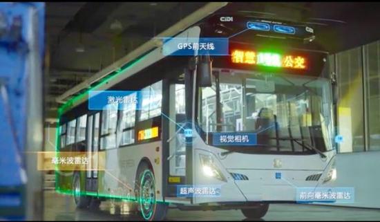 12月28日,位于长沙市岳麓山下的国内首条开放道路智慧公交示范线开通。