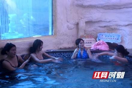 紫龙湾飘雪温泉。宁乡市旅游局供图