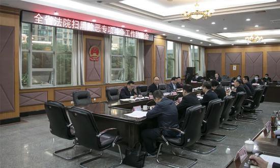湖北省法院召开推进扫黑除恶专项斗争审判执行工作约谈会
