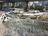 12月17日,长沙侯家塘渠化岛多处被拆除。