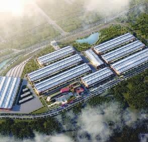 中国铁建新型轨道交通装备产业园鸟瞰效果图。通讯员摄