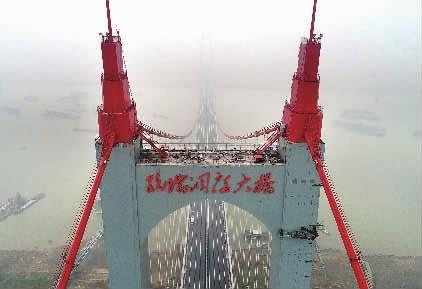 杭瑞高速洞庭大桥月底通车 岳阳去常德更方便