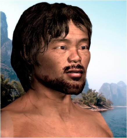 (甑皮岩史前人类复原图。所谓史前,即是夏商之前的年代,有正式历史记载之前中国境内人的发展史。)
