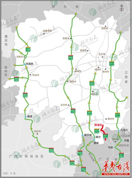 (二)G5513长张高速长益段避堵绕行建议方案