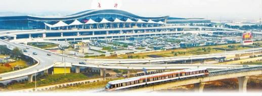 制图/李雅文  磁浮列车从长沙黄花国际机场驶出。(资料图片)童迪 摄