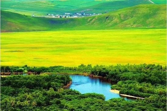 初夏,辽阔无边的大草原