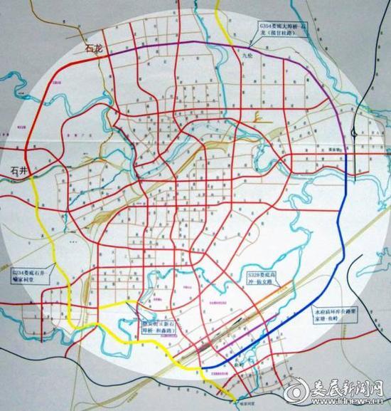 (娄底市城区外环线规划示意图)