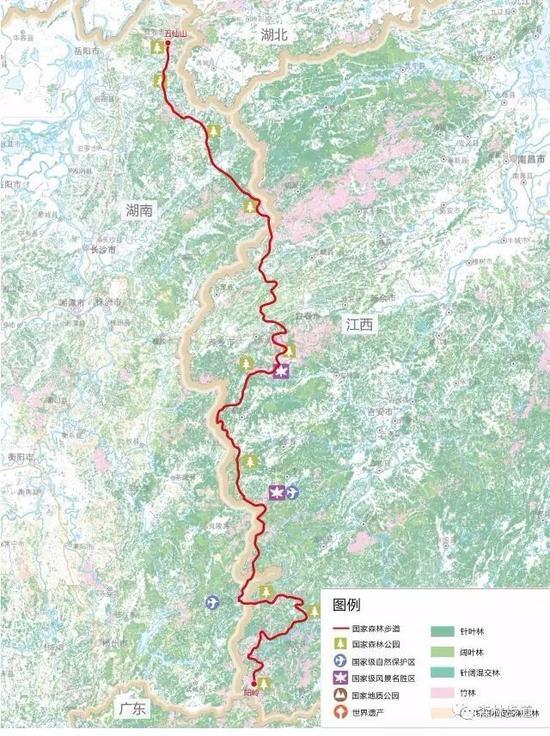 罗霄山国家森林步道串联我省四处国家森林公园