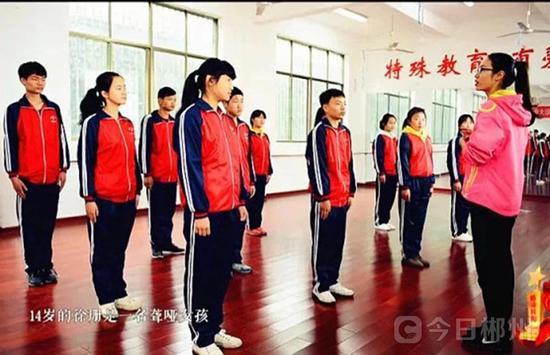 担任特殊教育学校体育老师的欧阳静玲