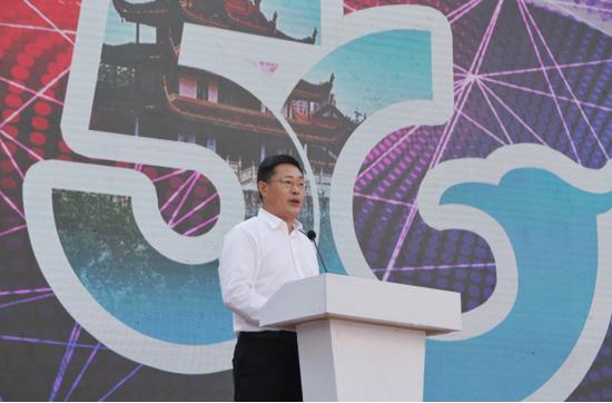 长沙市天心区委书记朱东铁在发布会上致辞