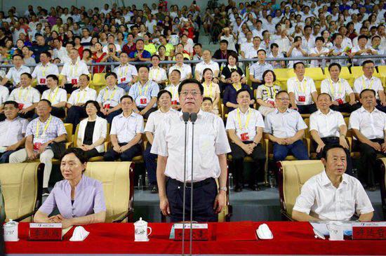 中共湖南省委书记、省人大常委会主任杜家毫宣布省运会开幕