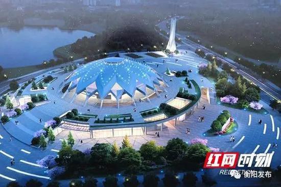 ▲衡山县体育馆项目效果图。