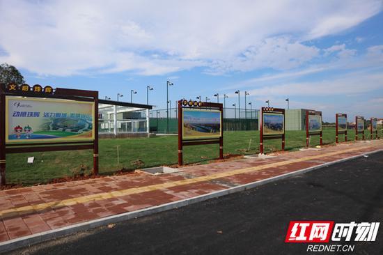 珠晖区在辖区内主要地段、路口等设立了公益广告。