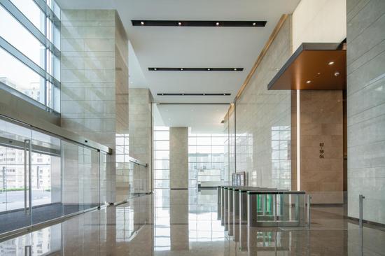 长沙IFS T1写字楼 3楼大堂。
