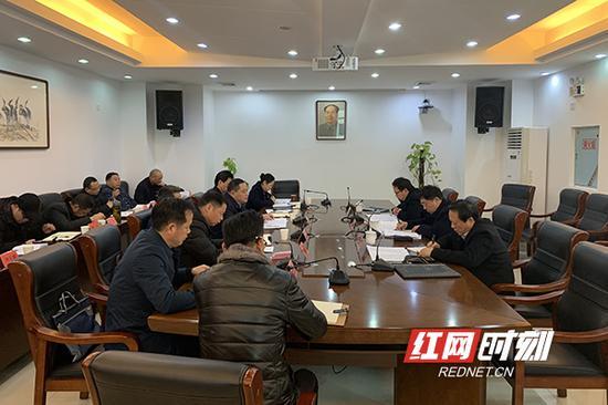 机构改革工作座谈会现场。