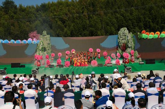 9月22日,2019湖南国际文化旅游节在郴州市宜章县莽山开幕。