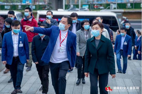 省政协主席李微微莅临湖南妇女儿童医院调研视察