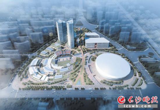 长沙市国际体育中心项目概念方案整体效果图。市体育局供图
