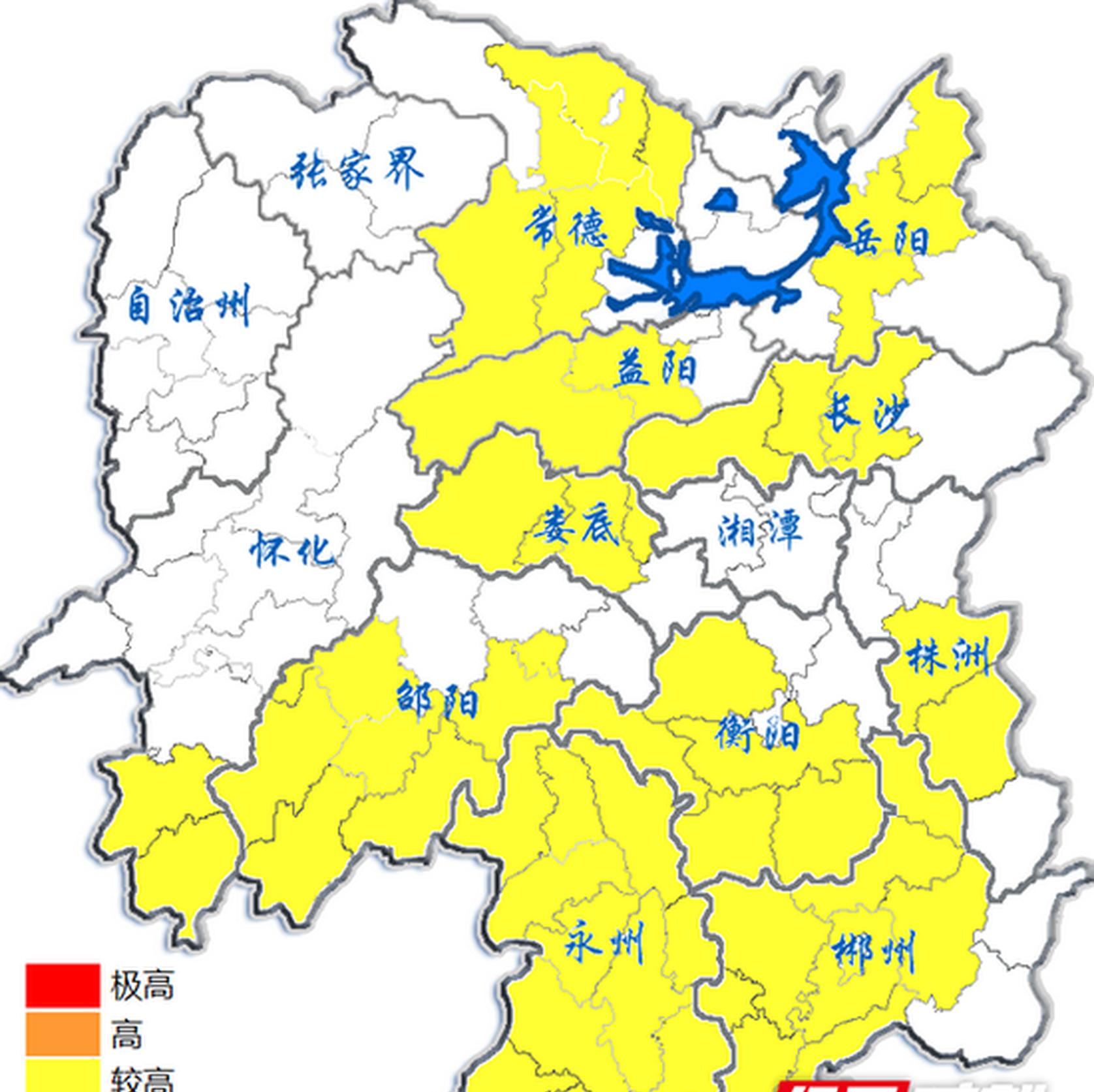 湖南省森林防灭火指挥部发布森林火险黄色预警