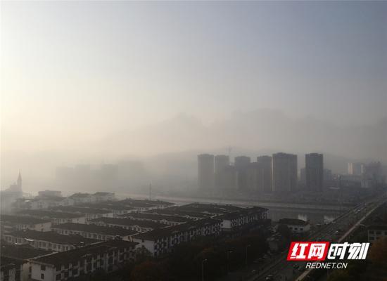 今日张家界,晨雾正浓。王津 摄