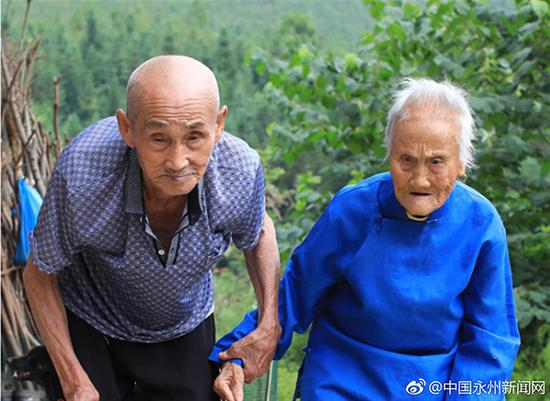百岁夫妻尹良卫和刘玉女
