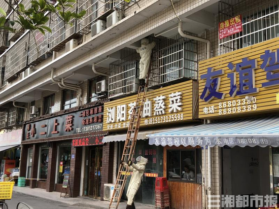 (7月15日,长沙县经开区消防救援人员处理马蜂扰民警情。)